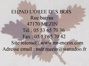 Ehpad r sidence l 39 or e des bois mezin f d ration - Grille attache d administration hospitaliere ...